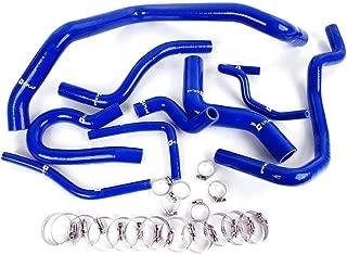 9pcs Silicone Radiator Coolant Hose Kit Clamps For Honda Civic D15 D16 Sohc Eg Ek 1992-2000 Blue