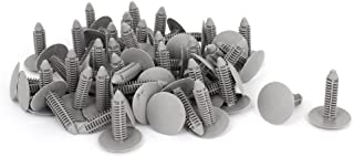 uxcell 50 Pcs Gray Plastic Rivet Clips 8mm x 25mm x 31mm