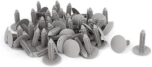 uxcell 50 Pcs Gray Plastic Rivet Clips 8mm x 25mm x 31mm