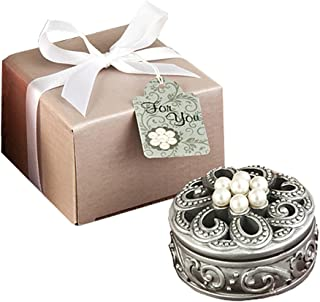 FASHIONCRAFT 8676 Pearl Flower Curio Boxes, Gray
