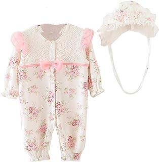 Bekleidung Longra Säugling neugeborenes Mädchen Baby Mütze Hüte  Strampler Bodysuit Playsuit Kleidung Set0-18 Monate