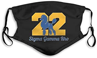 Sigma Gamma Rho Bandanas for Men Face Scarf Neck Gaiter Pm2.5 with Filters M Black