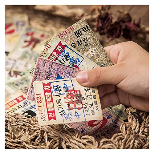 Kolorowy 29 sztuk Vintage Japoński i Koreański Bill Naklejki DIY Scrapbooking Base Collage Diary Prezent Seal Decoration Naklejki .Obdarzony wyobraźnią (Color : Multi-colored)