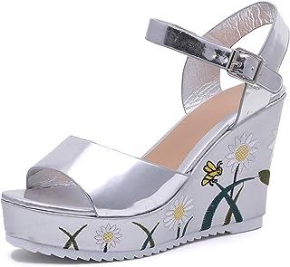 Sandalias De Zapatos esColors Amazon Vestir Plateado Para LqMpVGSUz