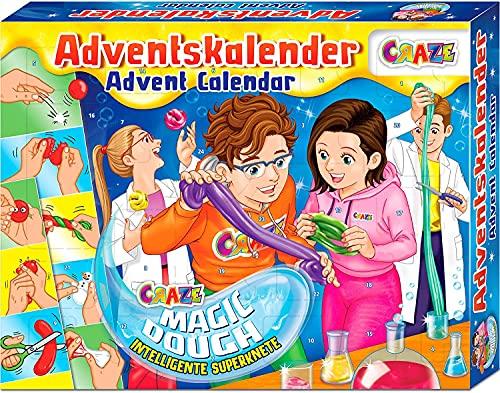 CRAZE Adventskalender MAGIC DOUGH magische Knete + Zubehör kreativer Knetspaß für Kinder und Jugendliche 24744