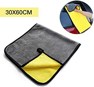 Microfiber Towels - Hamkaw Professional Car Microfiber Towel Microfiber Cleaning Cloth Detailing Clothes for Car/Windows/Screen/Kitchen(2 Size Available)