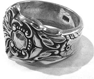 TAXCO Mexico .925 Sterling Silver Vintage Ring Handcrafted from 1800s Fork-RARE