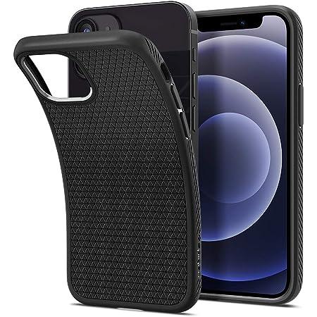 Spigen iPhone12 mini 用 ケース 5.4インチ MagSafe 対応 耐衝撃 TPU ソフトケース マット感 黄ばみなし 米軍MIL規格取得 画面レンズ保護 Qi充電対応 アイフォン12ミニケース リキッド・エアー ACS02719 (マット・ブラック)