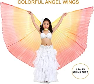 Light-Weight Halloween Costumes Belly Dance Isis Wings Colorful Wings for Children Kids