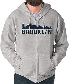 Brooklyn New York NYC Skyline Souvenir Gift Zip Hoodie