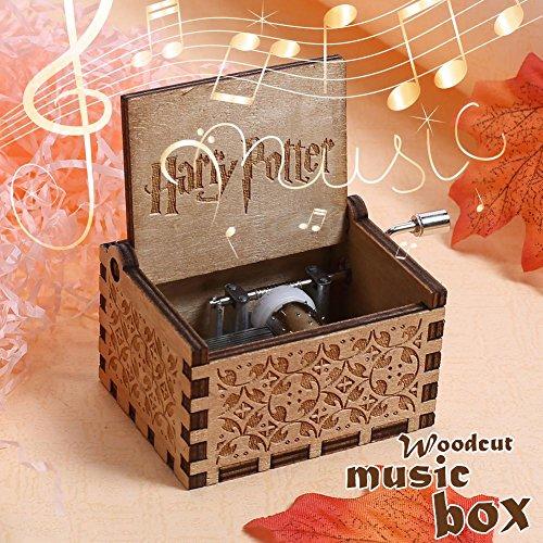 YeSheng Music Box for Harry Potter Engraved Wooden Music Box Interesting Toys Xmas Gift