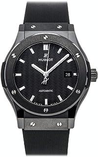 Hublot - Classic Fusion - Reloj automático de fibra de carbono negro con esfera de caucho negro para hombre 542.CM.1771.RX