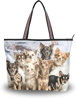 MyDaily Damen-Schultertasche mit süßem Chihuahua-Hund