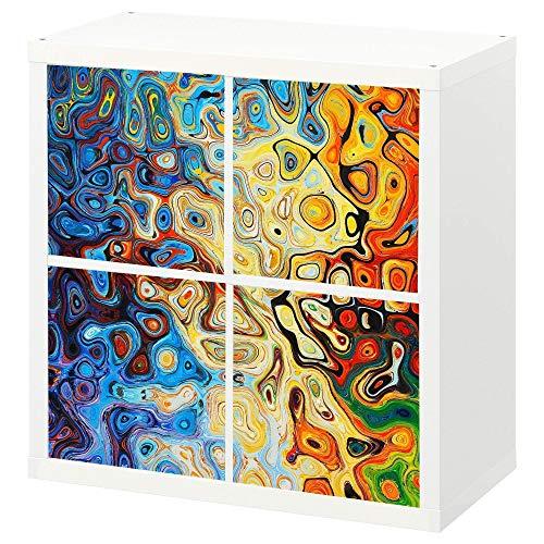 Stufenlos verschiebbares Cover oder Tür als Set für Ikea Kallax Expedit Regal |Regaleinsatz für Fächer, Regale, Regaltür| Rückwand Raumtrenner Ordnung Deko| Ohne Schrauben| Modern