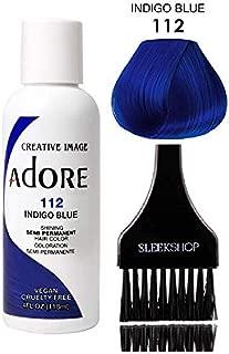 ADORE Creative Image Shining SEMI-PERMANENT Hair Color (STYLIST KIT) No Ammonia, No Peroxide, No Alcohol Haircolor Semi Permanent Dye (112 Indigo Blue)
