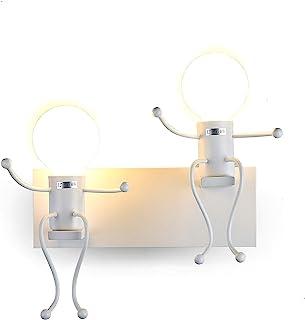 comprar comparacion FSTH Lámparas de Pared de Creativas Escalonadas Personas Individuales Lámparas de Pared Dormitorio Sala de Moderna Lámpara...