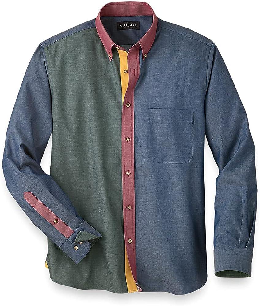 Paul Fredrick Men's Cotton Mix-it-up Casual Shirt