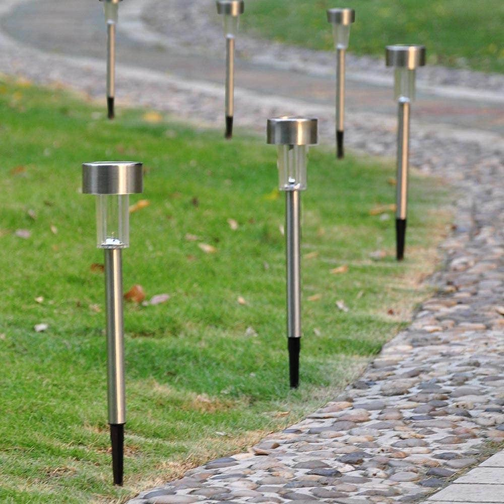 Max Max 85% OFF 90% OFF Kosoree 24 Pcs Stainless Steel Light Landscape LED Pathway Solar