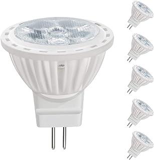 BQHY 4W MR11 Bombilla LED - Foco LED 12V , Equivalente 35W Halógeno Bi Pin GU4 Base, Blanco Cálido 3000K 350lm Para Empotrado, Iluminación de Acento Para el Hogar y Comercial(6 paquetes)