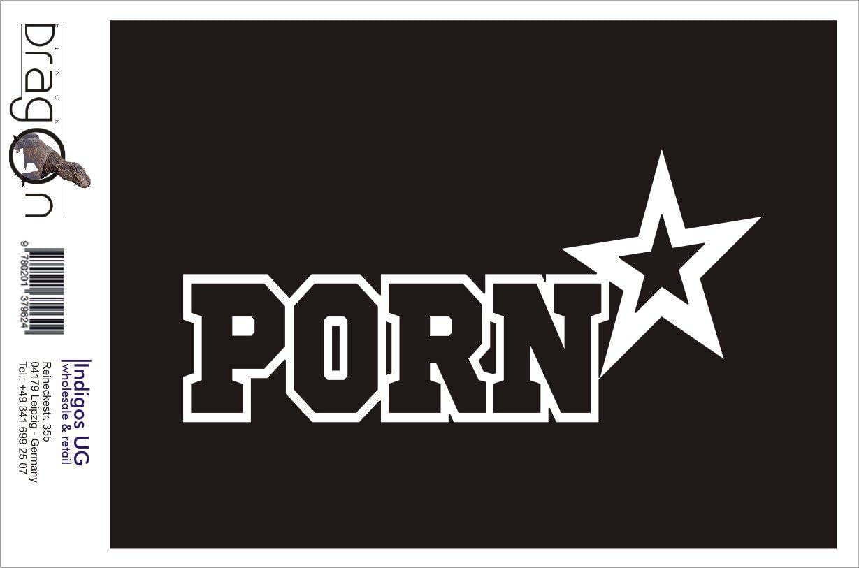 - Porn star Adhesivos // Pegatinas para el parachoques 210x100mm blanco JDM // Die cut