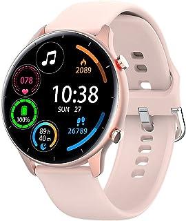 L21 Smart Watch 1,28 tums trådlös samtal Pulsmätning Multi Träning Betalbar Sport Smart Watch - Rosa 1,28 tum