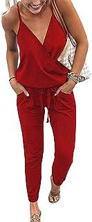 juste prix rechercher l'original chaussures classiques Amazon.fr : combinaison pantalon femme chic - Rouge : Vêtements