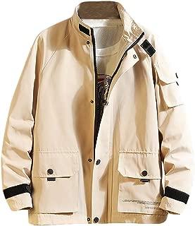 Bomber Jacket Men's Fashion Japanese Multi-Pocket Overcoat Fashion Jean Jacket Cap Jacket
