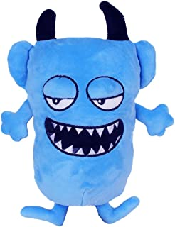 ViWen Cute Funny Ugly Monster Funny Demon Devil Funny Expression Plush Toys 20 سم (أزرق)