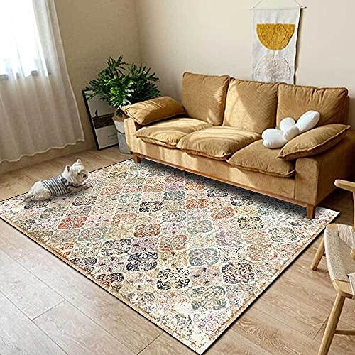 Alfombra larga para pasillos de 80 x 160 cm, color crema, tapete antideslizante para cocina, alfombrillas para baño o estaciones de trabajo