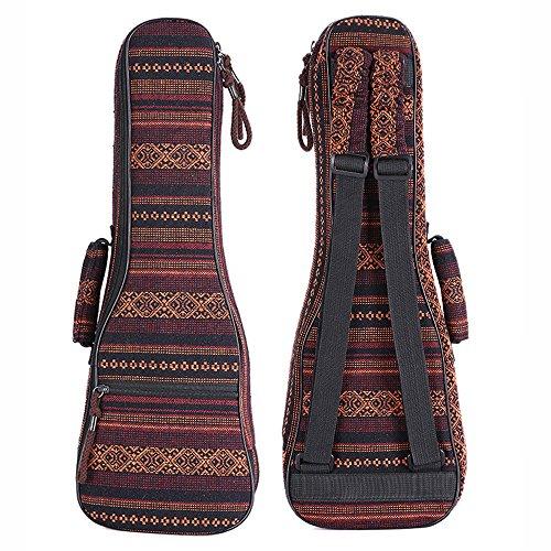 Zealux®, custodia per ukulele in stile boheme, con spallacci regolabili e imbottitura da 10 mm 21 in Bohemia-B