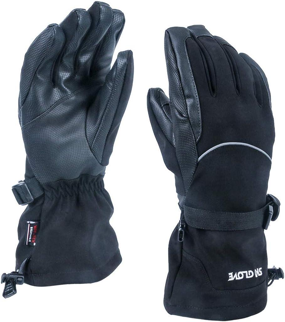 Zeraty Men Women Waterproof Ski Gloves-Outdoor Warm Touchscreen Gloves for Winter