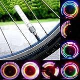 2 x Bicycle Bike Wheel Tire Valve Cap Spoke Neon 5 LED Flash Lights Lamp By Bestbuy66