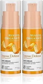Avalon Organics Intense Defense with Vitamin C Eye Cream, 1 Ounce (Pack of 2)