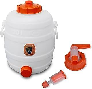 90026 Contenedor de bebidas SPEIDEL 1 grifo pl/ástico /Ø 10 mm 1 airlock Cubeta fermentador redondos 30 L