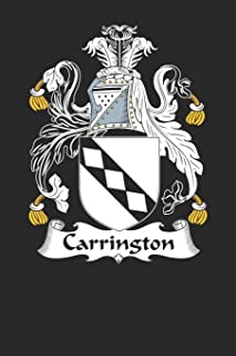 Carrington: Carrington Coat of Arms and Family Crest Notebook Journal (6 x 9 - 100 pages)