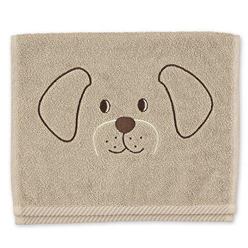 Sterntaler Toalla para niños de Hanno el perro, Edad: A partir de 0 meses, 30 x 50 cm, Amarillo