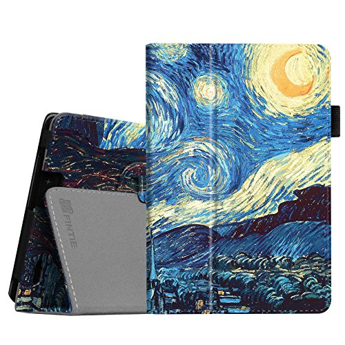Fintie Folio Case for Kindle Fire HD 7 (2013 Old Model) - Slim Fit Folio Case with Auto Sleep/Wake Feature (Will only fit Amazon Kindle Fire HD 7, Previous Generation - 3rd), Starry Night