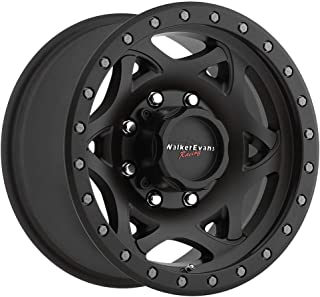Walker Evans 501SB Legend Satin Black X-LOK Lip Wheel with Painted Finish (17 x 8.5 inches /8 x 6 inches, 1 mm Offset)
