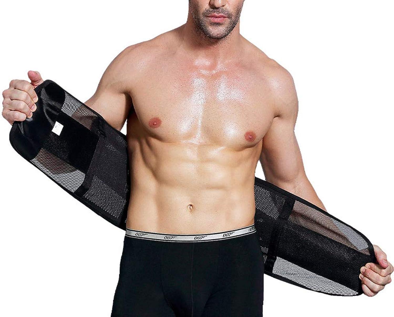 Men Back Support Waist Trimmer Belt Slimming Wrap Belly Strong Abdomen,XXL