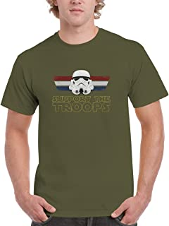 BBT Mens Star Wars Support The Troops Stormtrooper T-Shirt