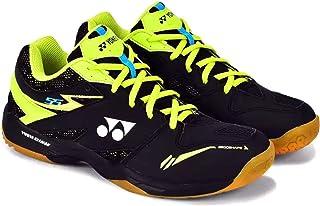 Yonex Power Cushion Non Marking Professional Badminton Shoes, Black/Lime - 6 UK