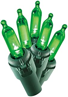 Holiday Time 100 Count Green LED Mini Lights on Green Wire (1 Pack)