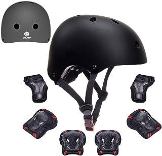 GLAF 自転車 ヘルメット こども用 プロテクターセット ヘルメット3-12歳 頭囲48~57cm 子供用 保護具 超高耐衝撃性 耐久性 軽量 サイクリング スケートボード ローラースケート 幼児 小学生