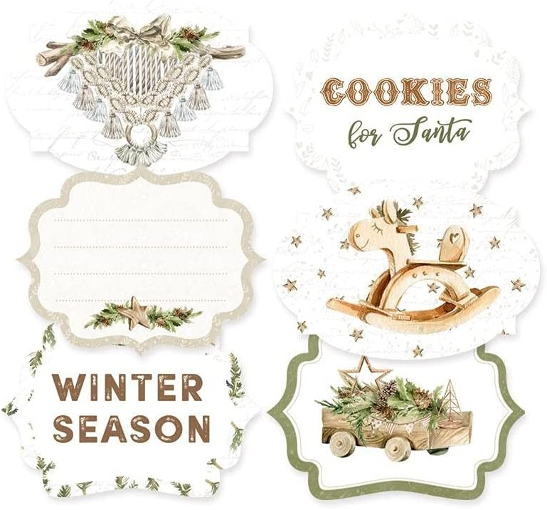 P13 Max 47% OFF Cosy Winter Double-Sided 6 Cardstock Industry No. 1 Tags Pkg-#04