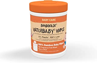 Bambooloo Waterbaby, water formula, plastics free wet wipes. 1 x 160 wipes