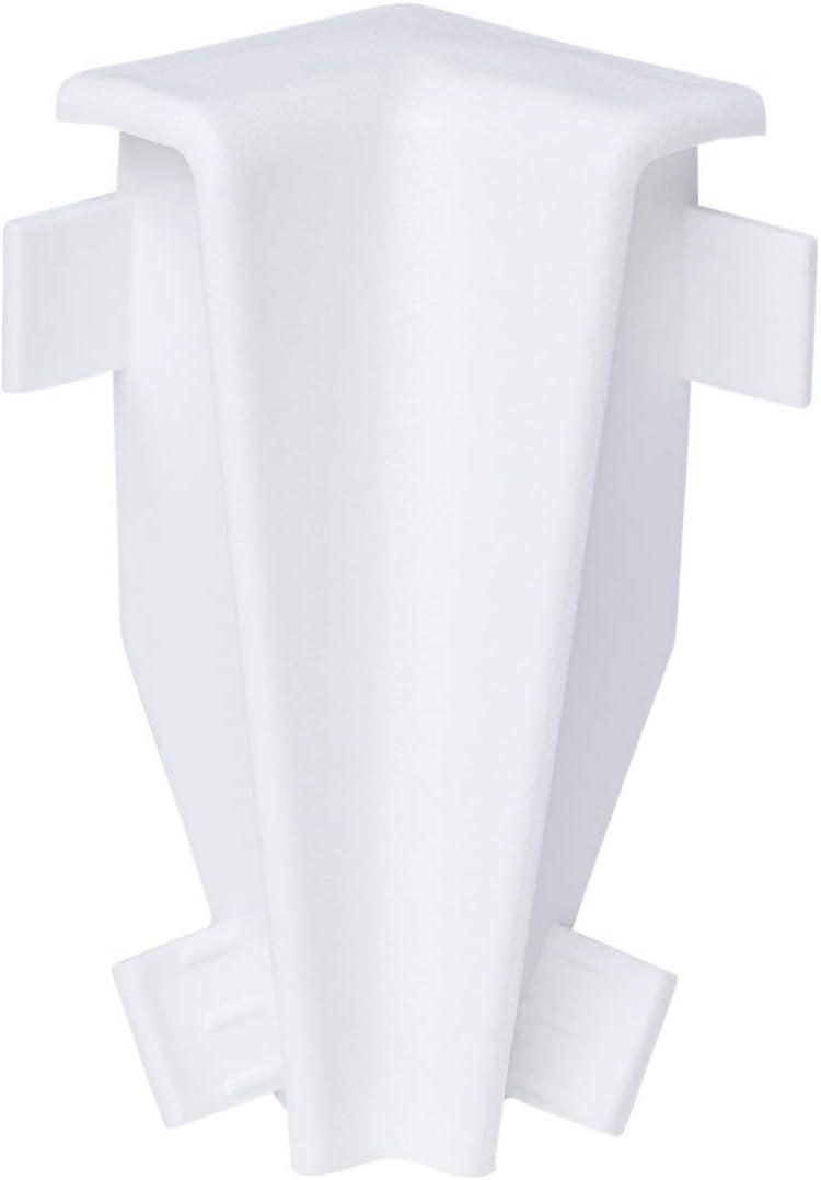 SPARPAKET 60mm H/öhe, 15 St/ück // 34,5lfm SockelleisteM/ünchen MDF WEISS Folie Oberkante Rund