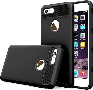 Case Compatible with iPhone 6 Plus, iPhone 6S Plus Case,2 in 1 Slim Case Hard PC Soft Rubber Cute Design Shockproof Heavy Duty Skin Anti Slip Case-Black