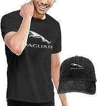 Kalinanai Camisetas, Tee's, Man Custom Jaguar Logo Summer-Time 100% Cotton O-Neck T-Shirt and Cowboy Hat Black