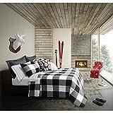 Safdie & Co. 60538.3DQ.01 Buffalo Collection Buffalo 3Piece Comforter Set, Full/Queen