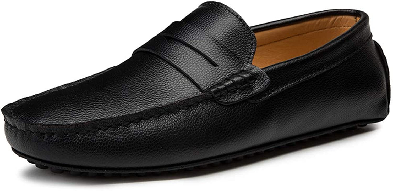 Men's shoes Comfort Flat Loafers Spring Season Summer Comfort Loafers & Slip-Ons Black White Brown